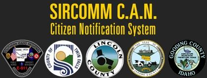 SIRCOMM C.A.N. Citizen Notification System with detailed logos
